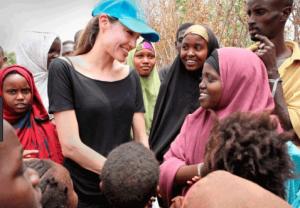 Angelina Jolie's visit in Somalia