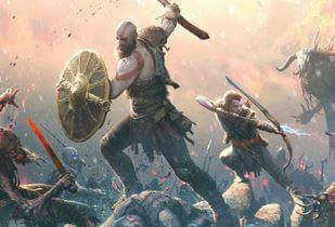 Kratos and son in battle