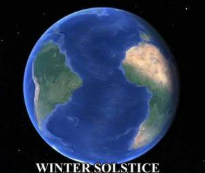 picture of the world during winter solstice