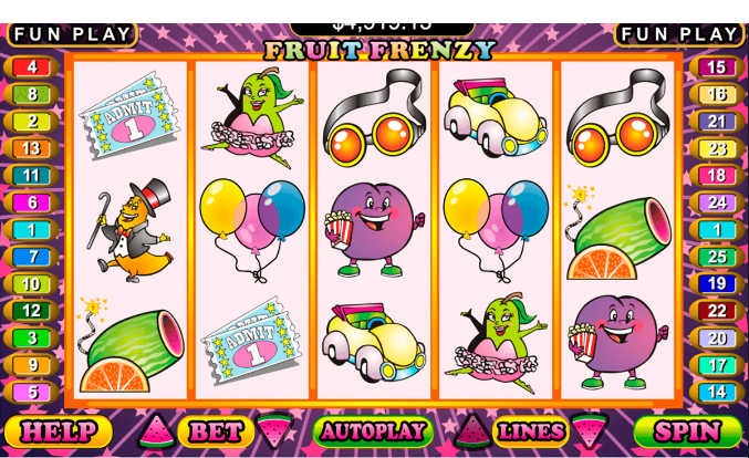 play Fruit Frenzy for real or for fun at Punt Casino