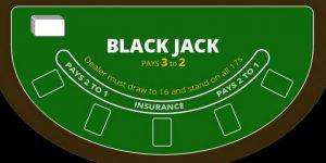 blackjack table set-up
