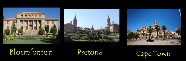 south africa capital cities facts