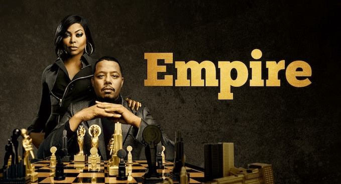 Picture with Empire Season 5 actors and chess board
