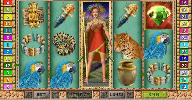 Play Mayan Queen at Punt Casino