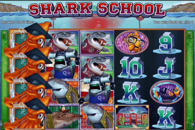 Gameplay on Shark Schhol