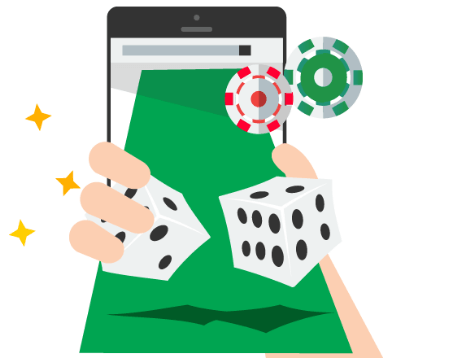 Online Craps on a mobile device