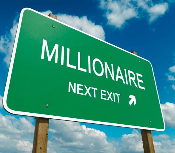 How to be a Millionaire sign post