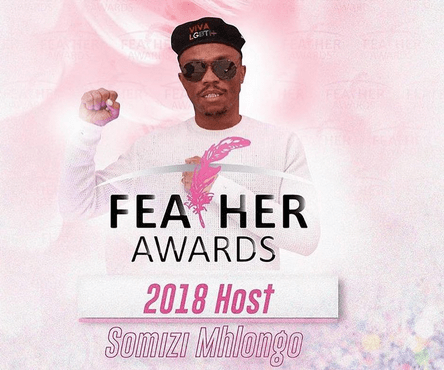 poster of Somizi, host of Feather Awards