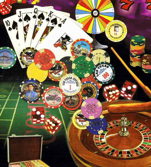 Picture showing gambling games galore