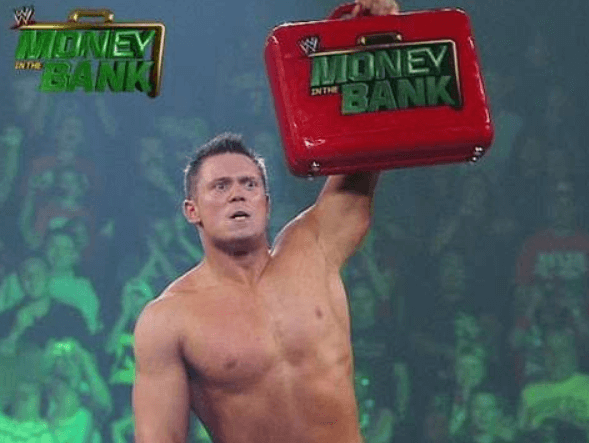 Pic of the Miz winning the Money in the bank