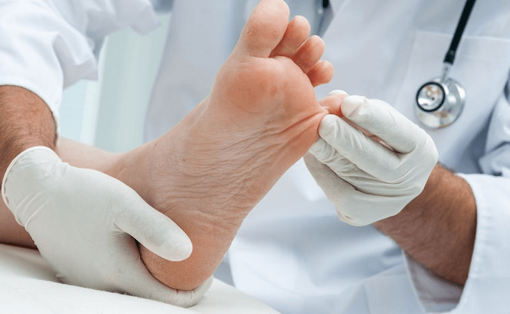 pic showing professional foot care
