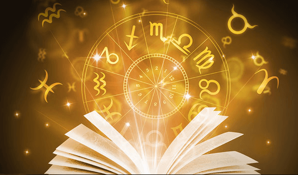 a book shoeing the horoscope