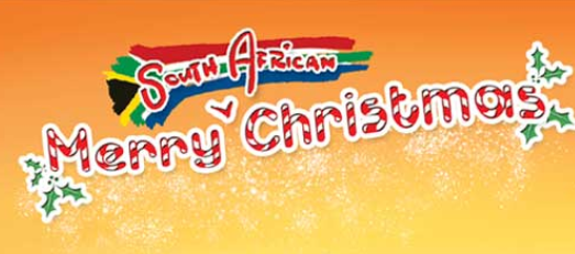 picture written merry christmas south africa