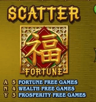 A screenshot of the scatter symbol from panda's gold