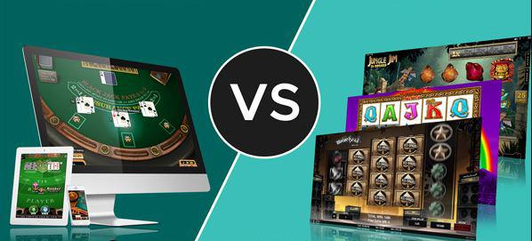online table games or Online slots, who wins