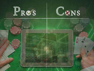 Real Money Online Casino Gambling, the good and the bad