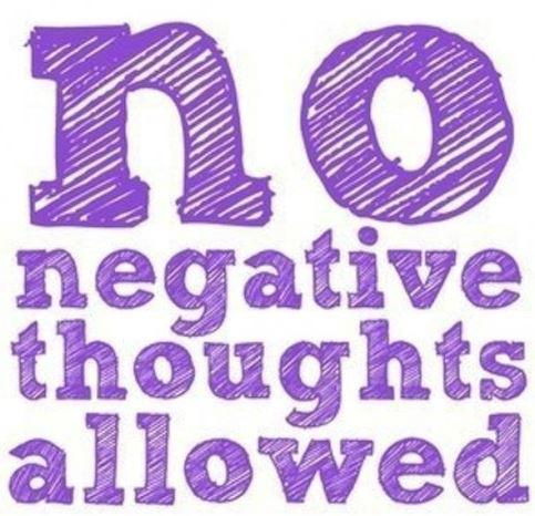 Negative Thoughts get rid of them