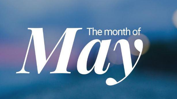 Month of May, new month